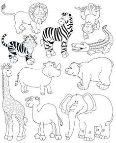 Endangered Animals Coloring Pages. 20 Endangered Animals Coloring Pages. Endangered Animals Coloring Pages Animals From north Colouring Pages, Coloring Pages For Kids, Coloring Sheets, Coloring Books, Zoo Animal Coloring Pages, Animal Paintings, Animal Drawings, Jungle Animals, Cute Animals