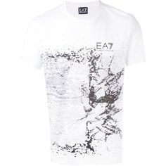 57098464 Ea7 Emporio Armani print T-shirt (€54) ❤ liked on Polyvore featuring · Mens  Printed ShirtsMens ...