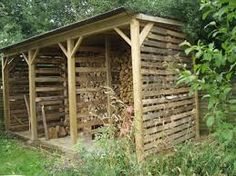 making wood store from pallets - Google Search