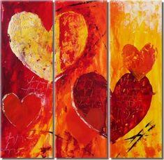 lacné obrazy, dekorácie, obraz na stenu, moderné umenie, abstrakcia, červená, oranžová, obraz do bytu, srdce, láska