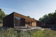 Ström Architects unveils renderings of British seaside getaway - Dr Wong - Emporium of Tings. Rest House, My House, Residential Architecture, Modern Architecture, Contemporary Country Home, Seaside Getaway, British Seaside, Modern House Design, Bungalow