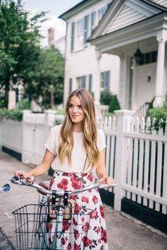 Gal Meets Glam The Summer Skirt - Cuyana top, BB Dakota skirt and Chanel bag