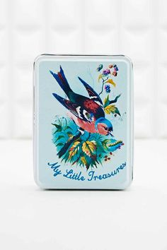 Shop My Little Treasures Tin at Urban Outfitters today. We carry all the latest styles, colours and brands for you to choose from right here. Decorative Accessories, Home Accessories, Urban Outfitters, Decorative Cushions, Mixed Metals, Decoration, Vintage Fashion, Retro, Painting