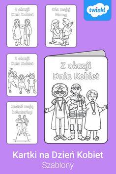 Świętuj Dzień Kobiet w przedszkolu i szkole z tymi uroczymi szablonami karteczek do pokolorowania! Kliknij, by pobrać i odkryć tysiące pomocy dydaktycznych dla dzieci. #dzieńkobiet #dzienkobiet #wprzedszkolu #dzienkobietwprzedszkolu #pracaplastycznadzieńkobiet #pracaplastyczna #dekoracje #ozdoby #przedszkole #szkoła #pomocedydaktyczne #dekoracjedzieńkobiet #szablony #szablon #dokolorowania #dodruku #dladzieci #twinklpolska #dzienkobietprezent #dzienkobietszablon Comics, Cartoons, Comic, Comics And Cartoons, Comic Books, Comic Book, Graphic Novels, Comic Art