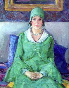 Self-Portrait Virginia B. Evans - circa 1920-1925