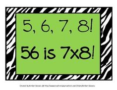 2 Styles of Multiplication Rhyme Posters! Print, laminate and post! These can also be used as reference sheets in student math folders/binders. Math Strategies, Math Resources, Math Activities, Learning Multiplication, Teaching Math, Maths, Math Teacher, Teacher Stuff, Math For Kids