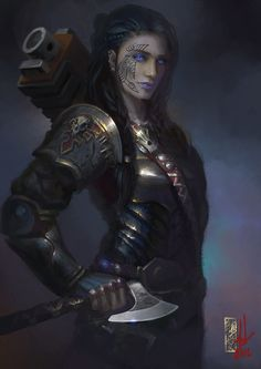 Inquisitor Annika Jarlsdottyr by DavidSondered. The only Inquisitor to hail from the planet Fenris.