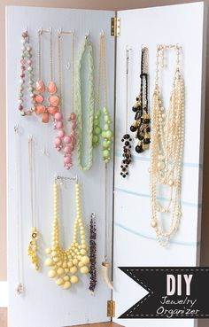 attach tiny hooks to the wall/doors