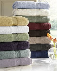 """Luxurious Egyptian Cotton Bath and Kitchen Towels You might wonder what the difference is between regular cotton and Egyptian cotton.  Egyptian cotton is formed from the rich soil beside the """"Nile River"""". The moist atmosphere of the """"Nile River Valley"""" makes the ideal conditions to raise long cotto"""