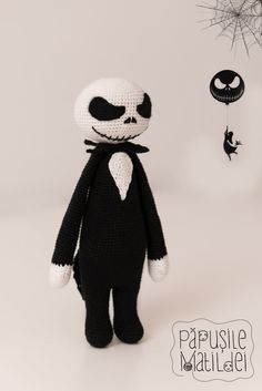 Jack Skellington crochet doll