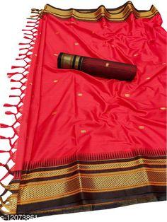 Sarees Hirkal Traditional Paithani Silk Sarees With Contrast Blouse Piece  (Red & Black) Saree Fabric: Silk Blend Blouse: Separate Blouse Piece Blouse Fabric: Silk Blend Pattern: Woven Design Blouse Pattern: Woven Design Multipack: Single Sizes:  Free Size (Saree Length Size: 5.3 m, Blouse Length Size: 0.8 m)  Country of Origin: India Sizes Available: Free Size   Catalog Rating: ★4 (454)  Catalog Name: Aakarsha Fashionable Sarees CatalogID_2303917 C74-SC1004 Code: 956-12073861-1371