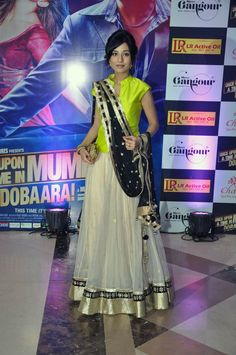 Amrita Rao wore a lehenga with a mint green blouse for Ekta Kapoor's Iftar bash. #Bollywood #Fashion