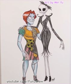 Marker illustration autumn fairy personal art by mei yu with beautiful gender bent art of jack and sally made by the very talented mei yu ccuart Images