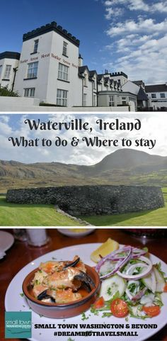 Looking for a town to spend the night on the Ring of Kerry? The town of Waterville is an excellent choice as it has historic sites, hotels with Atlantic views and amazing food. Read to find out the must-dos and where to stay and eat. #ireland. #tbexireland #ringofkerry #smalltowns #scenic #coastal