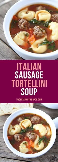 Italian Sausage Tortellini Soup-this easy and hearty tortellini soup is a family favorite! It is great for lunch or dinner!
