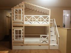 Strategy, methods, including manual in the interest of receiving the greatest result and also creating the optimum utilization of bunk bed designs Bedroom Storage For Small Rooms, Bedroom Storage Ideas For Clothes, Bunk Beds For Girls Room, Bunk Bed Rooms, Loft Bunk Beds, Wooden Bunk Beds, Bunk Bed Plans, Kid Beds, Storage Bunk Beds