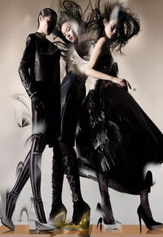 Ming Xi, Xiao Wen Ju, Wang Xiao | Nick Knight #photography | Lane Crawford F/W '12 Campaign