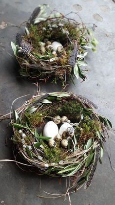 Osterideen 2019 # Osterdekoration # Natur # DIY # hausgemacht – Keep up with the times. Bird Nest Craft, Bird Nests, Deco Nature, Easter Table Decorations, Easter Flowers, Easter Traditions, Deco Floral, Floral Design, Easter Party