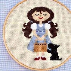 Dorothy and Toto Cross Stitch