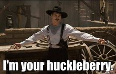 Val Kilmer in Tombstone as Doc Holiday.