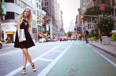 Miss Kassandra Brooks: Little Black Dress in New York City