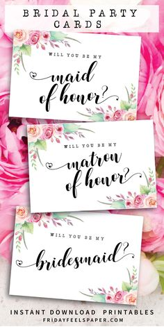 Invite your favourite family and friends to be part of your bridal party with these floral bridal party proposal cards featuring beautiful peach and pink roses, fresh leafy greenery with an elegant brush script font. Wedding Reception Signs, Wedding Party Invites, Wedding Prep, Wedding Guest Book, Wedding Cards, Wedding Planning, Party Invitations, Wedding Ideas, Diy Wedding