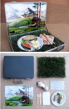 Make a really cute picnic kit! Would make a fun wedding present!  (and 33 other Irresistibly cute Spring DIYs)