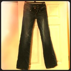American eagle junior jeans American Eagle stretch jeans slim boot cut size 00. Worn a handful of times still in great condition American Eagle Outfitters Jeans Straight Leg