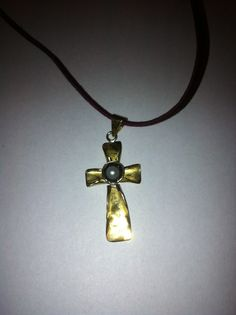 Cross with bronze and pearl