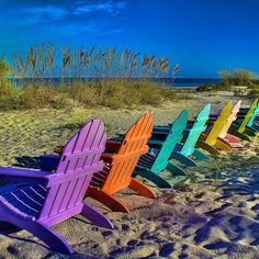 Captiva Is | Colorful chairs on Captiva Island