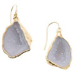 Gold Crystal Geode Earrings