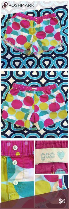 GapKids sleep shorts Bright polka dot pattern. 100% cotton woven. Cute details. Great preloved condition. No trades. No PayPal. Gap Pajamas Pajama Bottoms