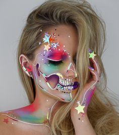 Holographic Star Skull by Vanessa Davis