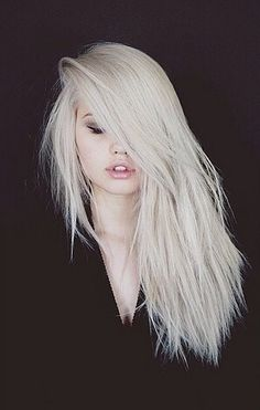 Bleach white blonde hair, love the color but I don't think I could pull it off :0
