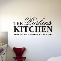 Personalised 'Kitchen' Wall Sticker - Parkins Interiors-$24.00
