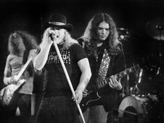 Lynyrd Skynyrd's Ronnie Van Zant, Gary Rossington and Allen Collins