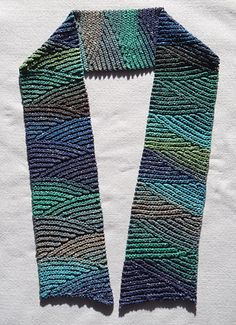 Slip Slope Scarf free pattern by Vashti Braha -- learn to crochet short rows and several other cool, confidence-building ideas