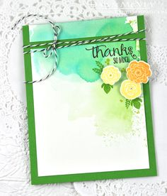 Mini Blooms Revisited: Thanks So Much Card by Dawn McVey for Papertrey Ink (March 2015)