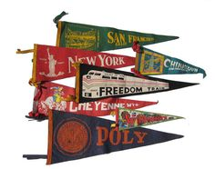 Vintage Pennants Felt Pennant Wall Hanging Souvenir offered by UncommonEye