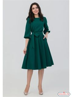 FLAVOR 2018 Women Fashion vintage Dress Green O-Neck Elegant A line dress puff… S.FLAVOR 2018 Women Fashion vintage Dress Green O-Neck Elegant A line dress puff sleeve vestidos Party autumn dress no pocket – PasangSurut Elegant Dresses, Casual Dresses For Women, Vintage Dresses, Beautiful Dresses, Clothes For Women, Dress Casual, Pretty Dresses For Women, Dress Formal, Women's Casual