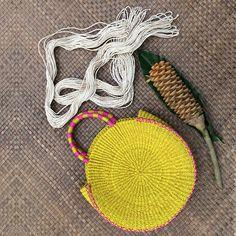 Danilo Round Abaca Handbag - Our 7107 Islands Round Bag, Round Basket, Basket Bag, Boho Look, Bag Making, Your Favorite, Straw Bag, Crochet Earrings, Gems