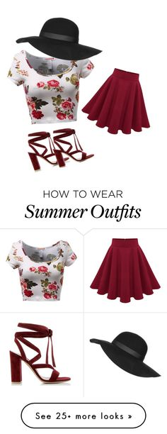 """""""Nice summer outfit"""" by starchapman on Polyvore featuring Gianvito Rossi, Topshop, women's clothing, women, female, woman, misses and juniors"""