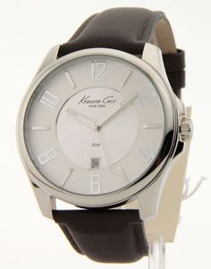 Kenneth Cole New York Leather Silver Dial Men's watch #KC1569S Kenneth Cole. $85.00