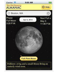 Full Moon Finder app