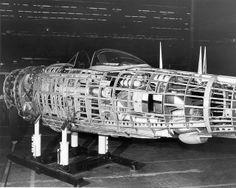 "Republic P-47N ""Thunderbolt"" fuselage before skin is applied."