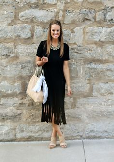 Little Black Fringe Dress - Lex What Wear #SummerStyle #SummerOufit #SummerStyle #StyleIdeas #OutfitIdeas #OutfitInspo #OOTD #FashionBlogger #NashvilleStyle #StyleBlogger