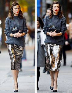 alexachung: Alexa arriving at a book signing in NYC on 30...