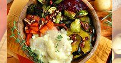 vegan thanksgiving roasted veggie bowl