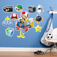 Mario Kart Wii Toad Giant Wall Decal from BirthdayExpress.com