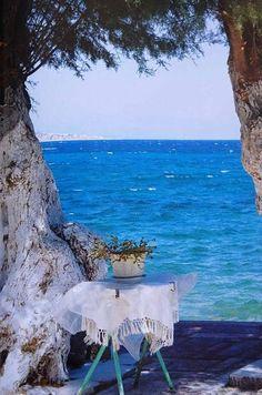 Passage way to the sea Isle of Crete, Greece